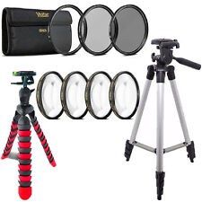 52mm Macro Filter + UV CPL ND + Flexible Tripod for Nikon D3300  D3100 D5300