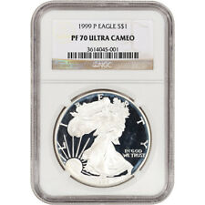 1999-P American Silver Eagle Proof - NGC PF70 UCAM