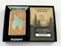 ZIPPO Woodchuck Flame Emblem beidseitig Feuerzeug Neuheit 2020 - 60004754