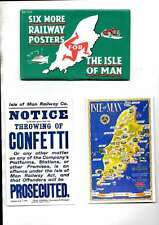 SET OF 6 MORE RAILWAY POSTERS FOR THE ISLE OF MAN  DALKEITH POSTCARDS MINT