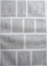 DENDERAIL. (TENTYRIS). (pl. 26, A. vol. IV).Divers bas rel... DESCRIPTION EGYPTE