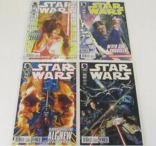 LOT OF 4 STAR WARS DARK HORSE COMIC BOOKS #1,2,3,4