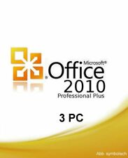 Microsoft Office 2010 Prof. Plus - Product Key für 3 PC's + Installations-DVD