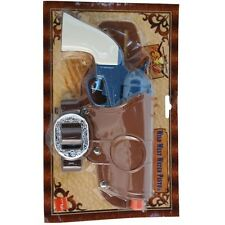 Adulto Salvaje Oeste Cowboy Fancy Dress Revolver Pistola & Cartuchera Pistola De Agua Smiffys