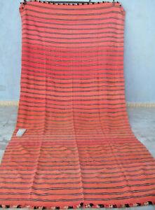 Moroccan berber woollen blanket fabric textile 370 x 180 cm 12ft2 x 5ft11