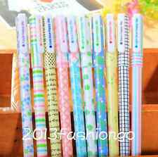 Set of 10 colors Korean Stationery 0.38mm Extra Fine Point Gel Ink Pens ZXB05
