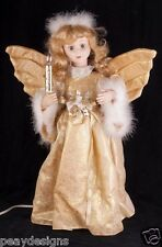 "Telco Angel Girl 24"" Motionette Animated Christmas Gold Display SEE VIDEO"