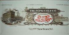 Pepsi Cola Fabrik Blechschild 50x25cm Reklame Plakat Coke Werbung Reklame
