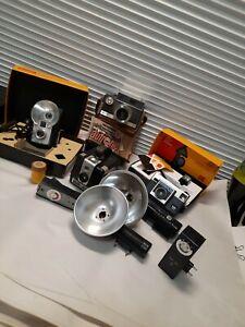 Lot of four vintage cameras argus kodak brownie