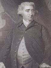 """Charles James Fox"" engraving after Reynolds by Cook for James Virtue 19th c."