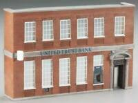 BACHMANN 35001 HO UNITED TRUST BANK FALSE FRONT Painted Resin Building FREE SHIP