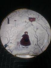 Franklin Mint Afternoon Visitors by Carol Endres Porcelain Gold Decorative Plate
