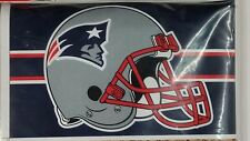 NFL, 3' x 5' Banner Flag, New England Patriots Helmet, NEW