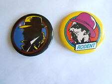 2 Cool Vintage Dick Tracy Disney Movie Promo Pinbacks Dick Tracy & Rodent