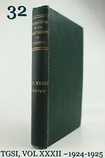 XXXII(32)TRANSACTIONS OF GAELIC SOCIETY(INVERNESS)SCOTTISH/HIGHLAND HISTORY*1929