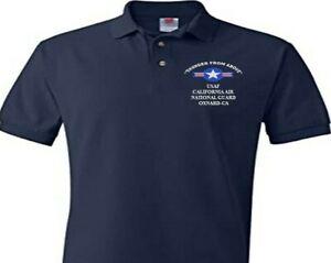 CALIFORNIA AIR NATIONAL GUARD  USAF EMBROIDERED POLO SHIRT/SWEAT/JACKET.