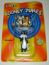 Looney Tunes SYLVESTER CAT Yellow Car Ertl Die Cast 1988 Warner Bros