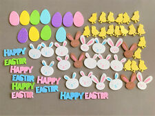 Lot of Foam Easter Bunny, Easter Eggs, Chicks & Happy Easter Stickers 55 Total