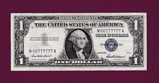 Fr.1619  $1  1957   SILVER CERTIFICATE NOTE LUCKY SN N 00777777 A HIGH GRADE