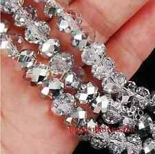 50pcs New Rondelle Crystal Glass Loose Spacer Beads 6x8mm For Diy Bracelet