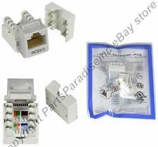 Lot100 Cat5e RJ45 Keystone Network/Ethernet 10/100/1000Jack/Port Punch Down{GREY