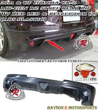 Mu-gen RZ Style Rear Lip (ABS) + LED Brake Lights Fits 11-16 CR-Z 2dr
