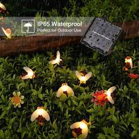 Waterproof Bee LED String Light  Solar Power Garden Path Yard Decor Lamp Outdoor