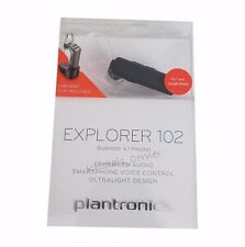 Plantronics Explorer 102 Wireless Bluetooth 4.1 Headset HD Audio & Car Vent Clip