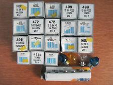 Trabajo Lote De Bombillas De Motocicleta 12 voltios mezcla de conversión de Xenón/Halógeno // ver Listín