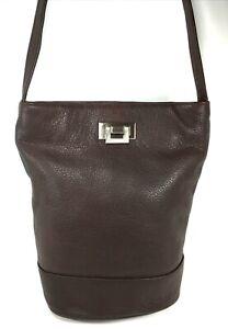 Tignanello Brown Leather Crossbody Shoulder Bag
