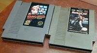 Nintendo NES RoboCop & Mario Bros. carts, cleaned & tested, authentic