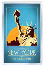 NEW YORK VINTAGE REPRO FRIDGE MAGNET IMAN NEVERA
