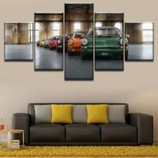 Classic Porsche 911 Sports Racing Car Framed 5 Piece Canvas Wall Art Painting Wa