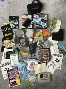 Various Nintendo Snes Gameboy Sega Manuals / Games / Batteries