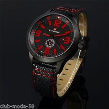 Montre Fashion Naviforce Militaire Homme Bracelet cuir Date US ARMY PROMO