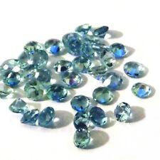 NATURAL ROUND-CUT SANTA-MARIA BLUE AQUAMARINE AAA LOOSE STONES 5pcs - 3 to 3.3