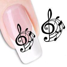 Nail Art de transferencia de agua Pegatina Adhesivos Decorativos Calcomanías Notas Musicales (DX1358)