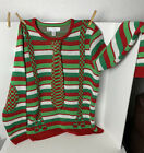 Jolly Ugly Christmas Sweater XXL/EEG Red White Green Checked Tie Stripes