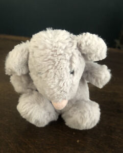 Jellycat Plush Mini Bashful Grey Mouse with Pink Nose 4 IN Stuffed Animal Toy