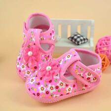 1 Pair Kids Baby Girl Pink Soft Sole Crib Shoes Prewalker First Polka Dot Shoes
