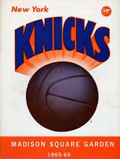 1965-66 NBA BOSTON CELTICS vs. NEW YORK KNICKS GAME PROGRAM (UNSCORED) NM