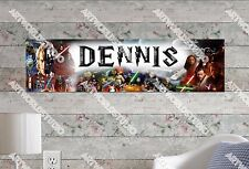 Personalized/Customized Star War Name Poster Wall Art Decoration Banner