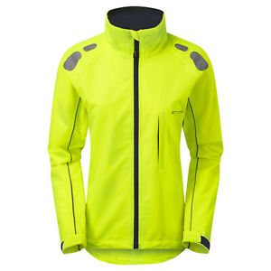 Ettore Ladies Cycling Jacket Waterproof Breathable High Vis Yellow - Night Eagle