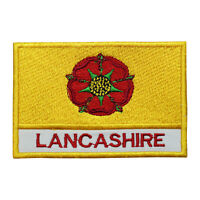 Lancashire County Flag Patch Iron On Patch Sew On Embroidered Patch