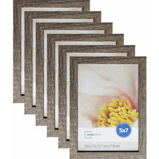"Mainstays® Linear 5"" x 7"" Rustic Frame Set of 6 Photo Family Picture Decor wall"