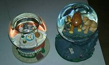 2 Vintage Disney Snow Globe Musical Globe Lady & the Tramp The Lion King