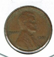1951 Philadelphia Circulated Business Strike Copper One Cent Coin!