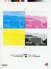 More details for portugal azores europa stamps 2018 mnh bridges architecture 4v m/s colour proof