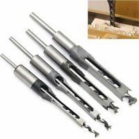 4pzs Brocas de talador de agujero cuadrado para carpinteria Juego de cincel J5P5