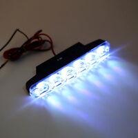 2x Xenon White 6 LED Super Bright DRL Daytime Running Driving Lights Fog Lamp ER